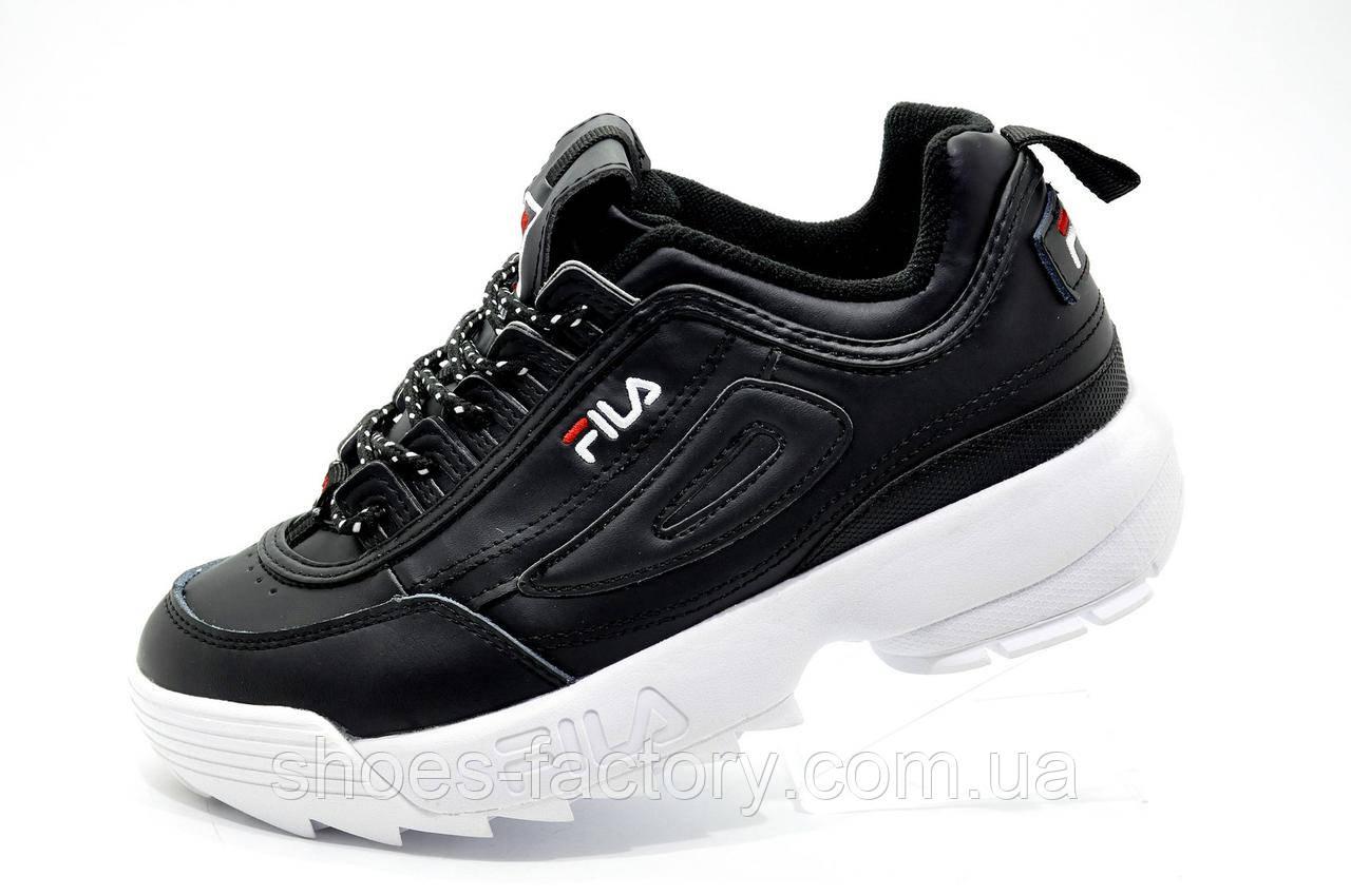 Женские кроссовки в стиле Fila Disruptor 2, Black\White
