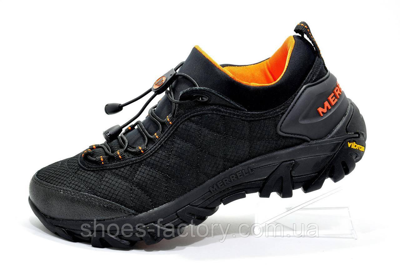 Кроссовки мужские в стиле Merrell Ice Cap Moc 2, Black\Orange Термо