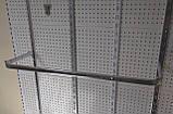Дуга (штанга) 90см овальна хром для рейкового торгового обладнання, фото 3