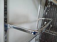 Дуга (штанга) овальна хром довжиною 90см для рейкового торгового обладнання , фото 1