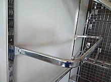 Дуга (штанга) 60см овальна хром для рейкового торгового обладнання