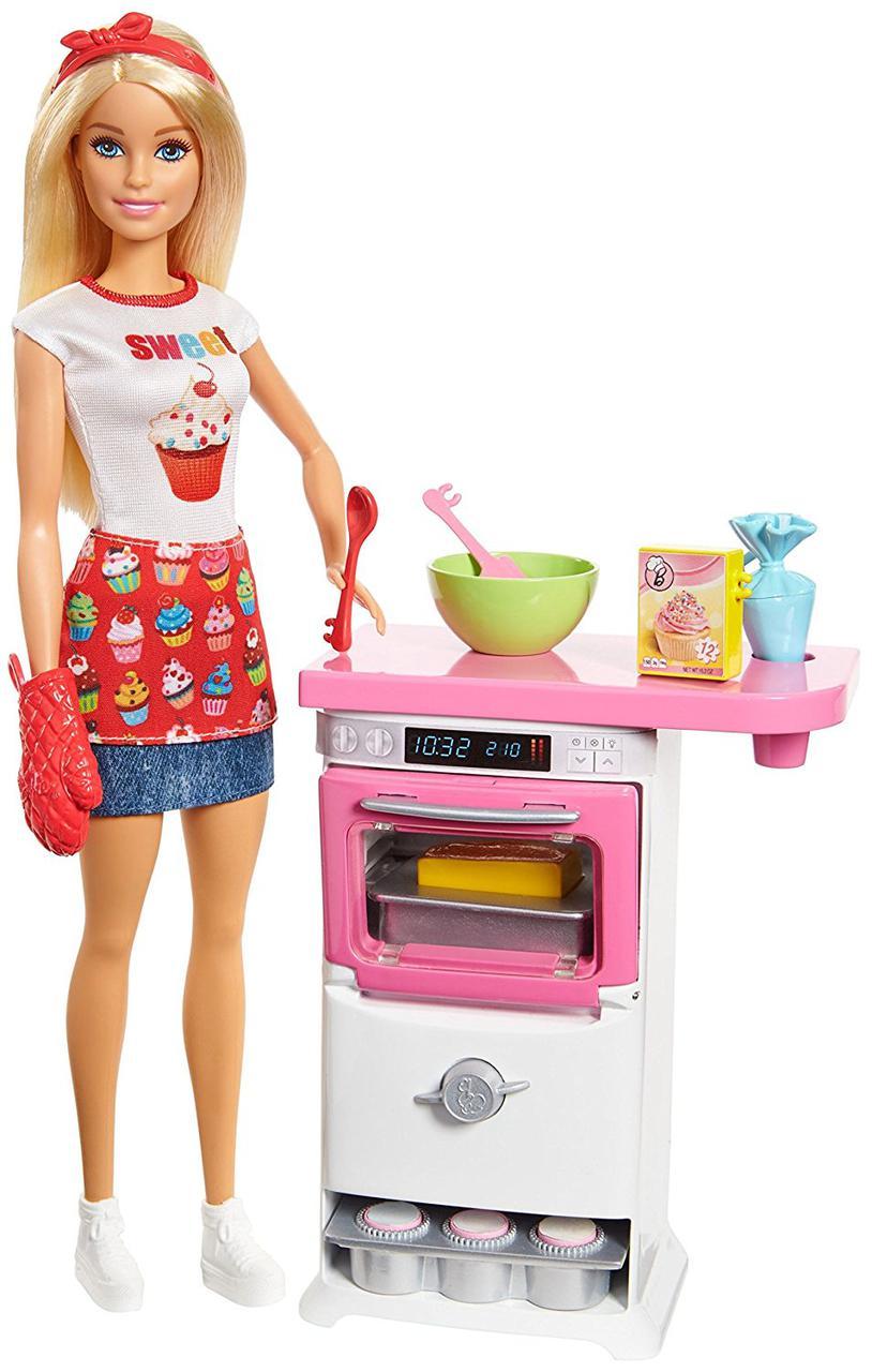 Набор Барби Шеф-повар Кондитер Пекарь Barbie Bakery Chef Blonde Playset