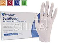 Нитриловые перчатки белые 4г/м² неопудренные (100шт/уп) Медиком SafeTouch® Platinum White