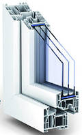 Металлопластиковые окна КВЕ 88, монтажная глубина 88 мм., 7 камер. стеклопакет 44 мм