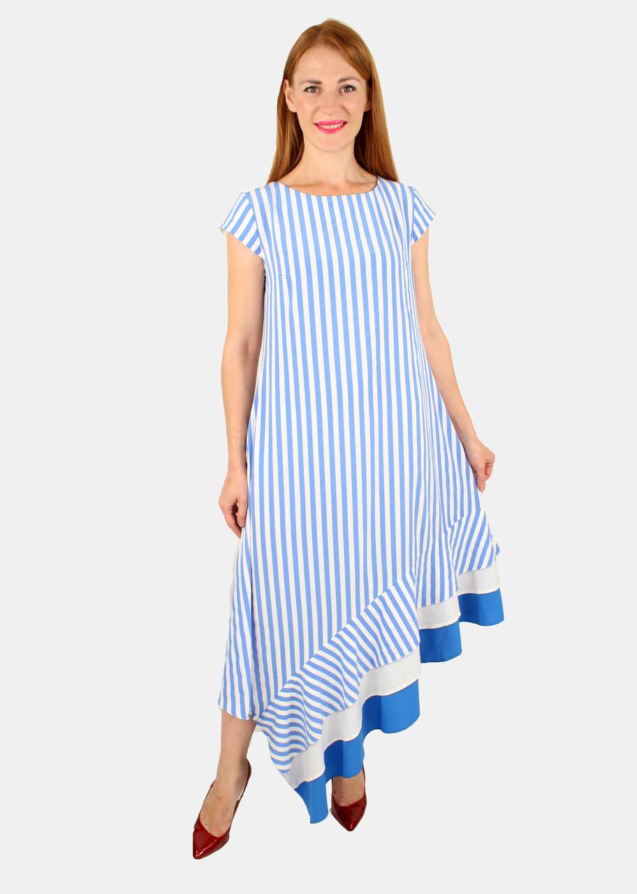Женское летнее платье полоску 44-50 р ( разные цвета )