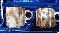 Чашки для чая/кофе из натурального камня оникса набор 2 шт