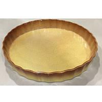 "Форма для выпечки пирога керамика круг ""Ethno Organic"" 33*4.5см, 236769"