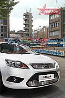 Декоративный элемент решетки радиатора d10 Союз 96 на Ford Focus II 2008-2011