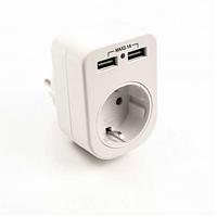Розетка с двумя USB гнездами  LM681, фото 1