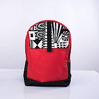 Черно-красный рюкзак с орнаментом, фото 1