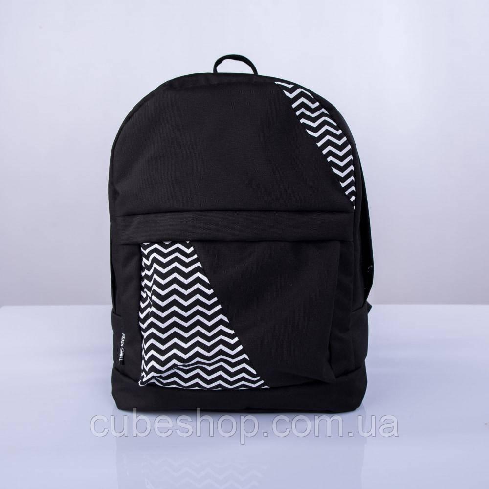 Черный рюкзак с зигзагами mini