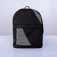 Черный рюкзак с зигзагами mini, фото 1
