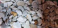 """Крошка кварцитовая катаная """"Белое Золото"""" фр.5-10 мм (мешок 10кг)"""