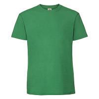 Летняя мужская хлопковая футболка ярко-зеленого цвета