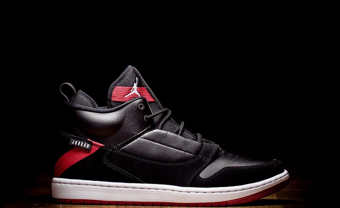 f4a310f79c59 Оригинальные мужские кроссовки NIKE AIR JORDAN FADEAWAY BLACK RED WHITE