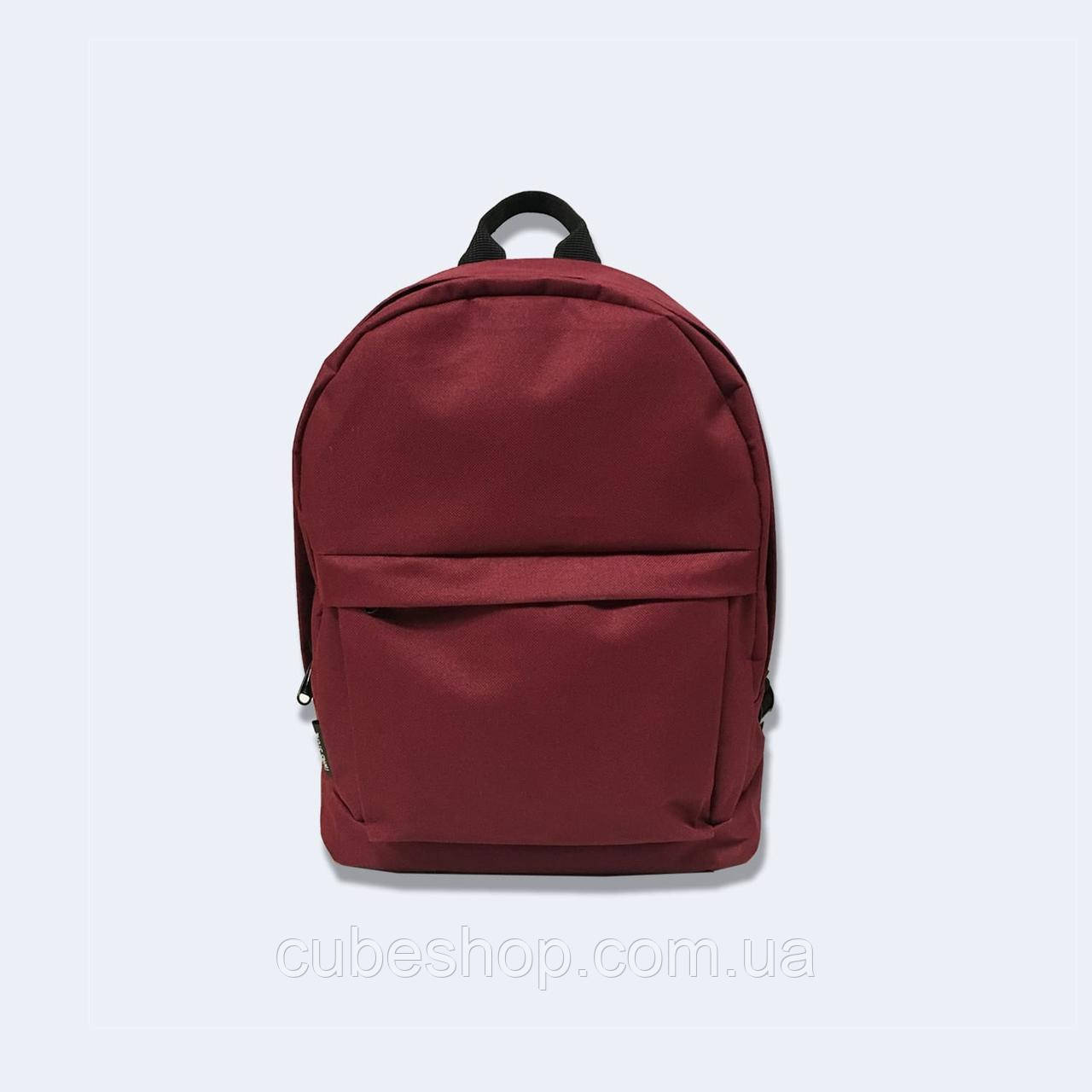 Бордовый рюкзак mini