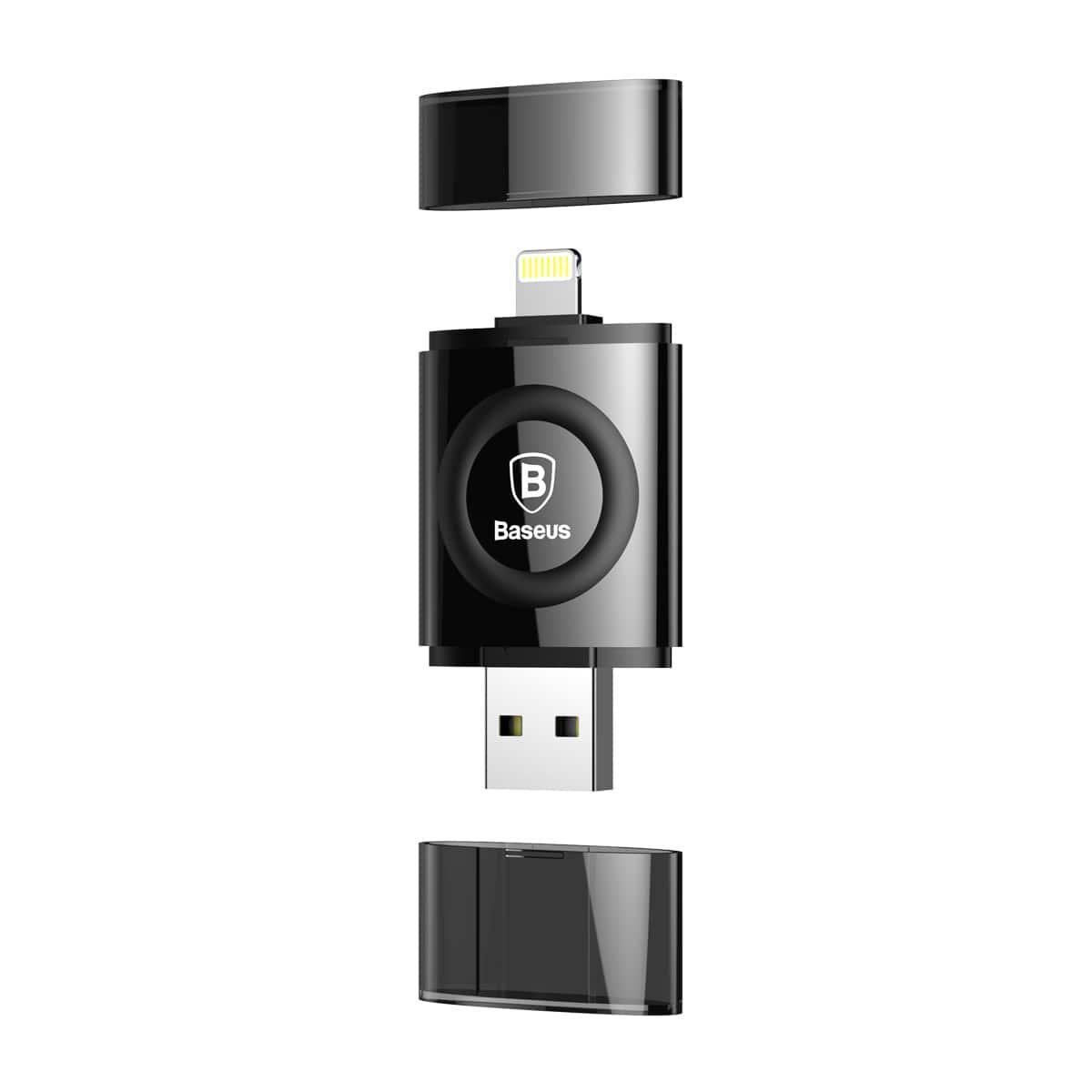 Флешка Baseus Obsidian X1 64Gb MFI Lightning-USB (Черный)
