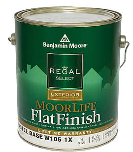 Краска фасадная  Benjamin Moore  MoorLife Flat Finish Regal Select (105) 3,78 л