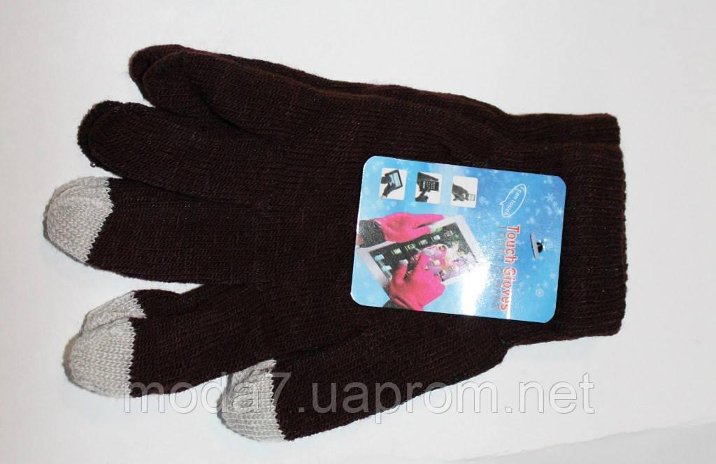 Подростковые перчатки для сенсора корочневые