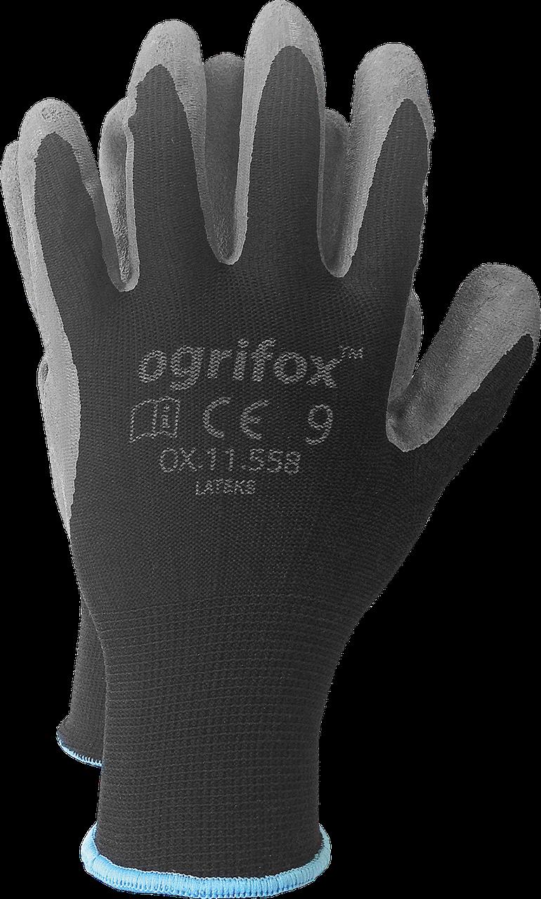 Перчатки OX-LATEKS BS защитные, изготовленные из полиэстера, покрытые латексом Reis Польша