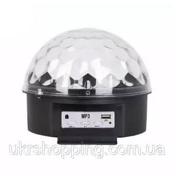 """Диско шар с MP3 плеером LED Ball Light с ПДУ и флешкой, светодиодный шар для дискотеки, с доставкой  - Онлайн-гипермаркет """"УкрШоппинг"""" в Харькове"""