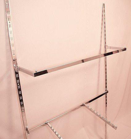 Дуга (штанга) квадратна  хром довжиною 100см для рейкового торгового обладнання