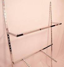 Дуга (штанга) 120см квадратна хром для рейкового торгового обладнання