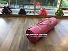 Каучуковый коврик для фитнеса NBR 180х60см, толщина 12мм, розовый, фото 3