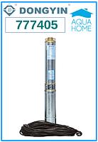 Центробежный погружной насос Aquatica 777405; 1.1кВт; H=163м; Q=2.7 м³/ч, Ø75 мм