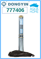 Центробежный погружной насос Aquatica 777406; 1.5кВт; H=197м; Q=2.7 м³/ч, Ø75 мм