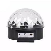 Диско шар с MP3 плеером LED Ball Light с ПДУ и флешкой