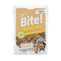 Функциональные лакомства Brit Let's Bite Shine On с лососем для поддержки шерсти и кожи,150г
