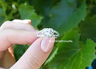 Серебряное кольцо Сердечко, фото 1