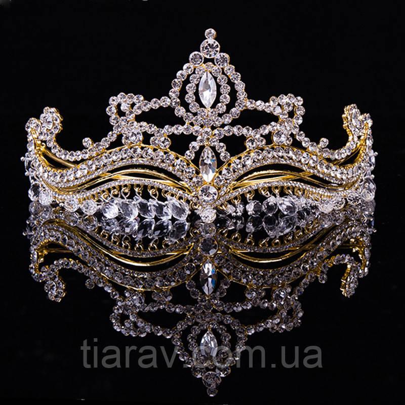 Тиара корона на голову ЭВЕН красивые модные украшения для волос