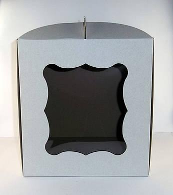 """Картонная коробка для торта """"С окном"""" 28*28*30 см"""""""