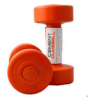 Гантели с пластиковым покрытием 1 кг LiveUp  CEMENT DUMBELL LS2003-1