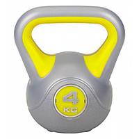 Гиря пластиковая насыпная 4 кг LiveUp PLASTIC KETTEL BELL LS2047-4