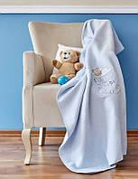 Детский плед в кроватку Karaca Home Cloudy Mavi голубое 100*120
