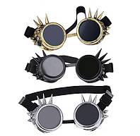 Окуляри Гогглы в стилі стімпанк з шипами