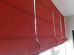 Оформление балкона римскими шторами и мягкими панелями -1