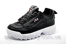Женские кроссовки в стиле Fila Disruptor 2, Black\White, фото 2