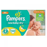 Подгузники Pampers New Baby 2 3-6 кг 100шт