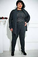 Женские брюки больших размеров на запах, цвета в ассортименте
