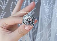 Серебряное кольцо с цветами