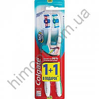 Зубная щётка Colgate  360° Clean (средняя),  (1+1)шт