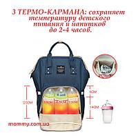 Сумка рюкзак для мам Baby Tree Синий цвет