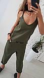 Женский льняной комбинезон (2 цвета), фото 6