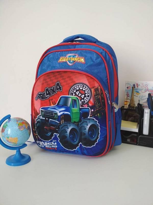 Синий школьный рюкзак для мальчика 40*30*19 см