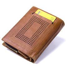 Мужской кожаный кошелек Contacts с натуральной кожи, фото 3