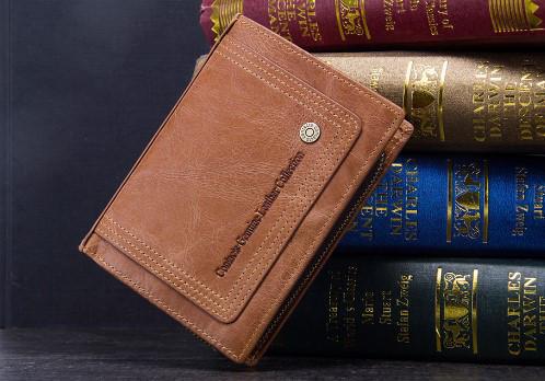 Мужской кожаный кошелек Contacts с натуральной кожи